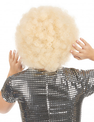Perruque afro blonde volume femme-1