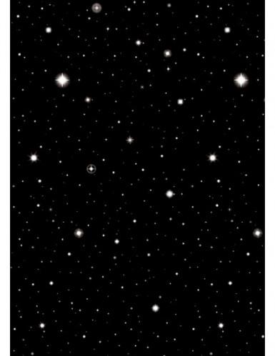 Décoration murale nuit étoilée 1.2 x 12.2 m