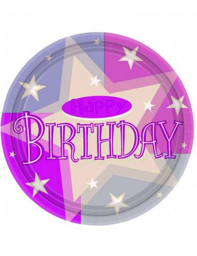 8 Assiettes happy birthday