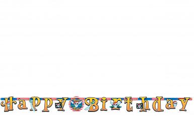 Bannière happy birthday pirate