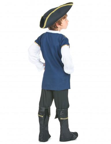Déguisement pirate bleu et blanc garçon-2