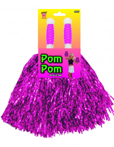 Pompon violet métallique