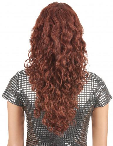 Perruque ondulée longue rousse femme-1