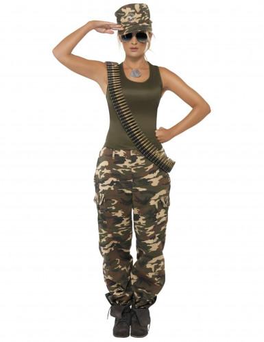 Déguisement militaire débardeur femme