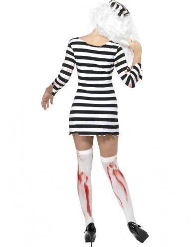 Déguisement zombie prisonnière femme Halloween-1