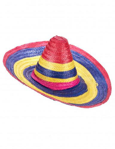 Sombrero multicolore adulte 50 cm