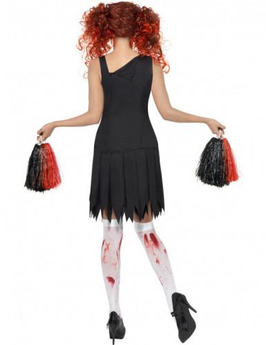 Déguisement zombie pompom girl femme Halloween-1
