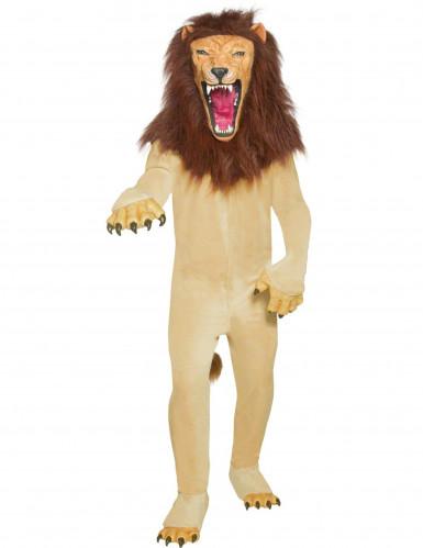 Déguisement lion beige adulte