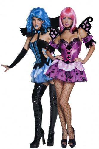 Déguisements couple ange et elfe de la nuit Halloween
