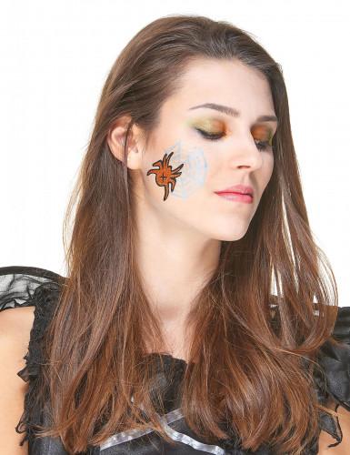 Maquillage à paillettes et tatoo Halloween-1