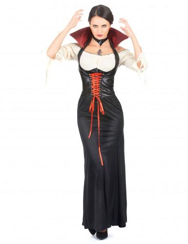 Déguisement vampire effet cuir femme