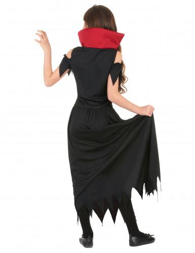 Déguisement vampire rouge fille Halloween-2