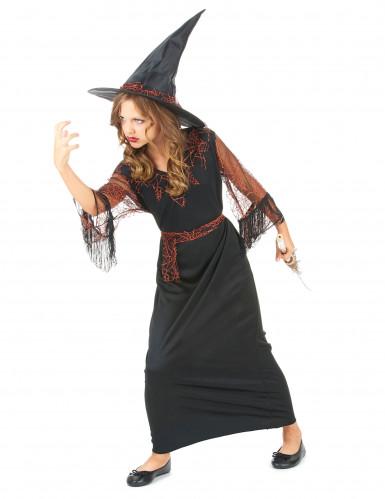 Déguisement sorcière noir fille Halloween-1