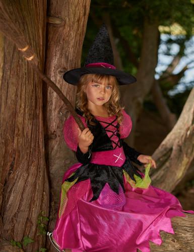 Déguisement rose sorcière fille Halloween-4