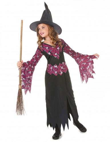 Déguisement sorcière avec chapeau fille Halloween-1