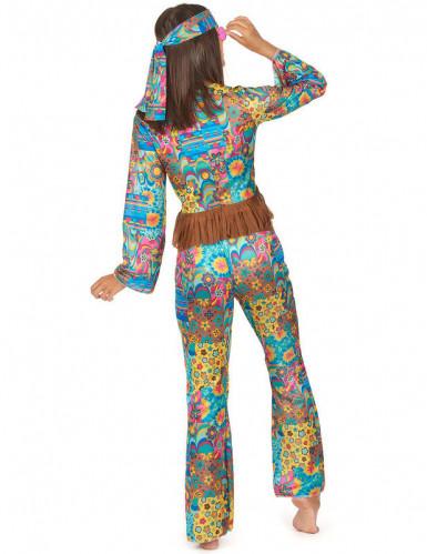Déguisement hippie col V femme-1