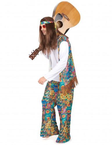 Déguisement hippie motifs colorés homme-1