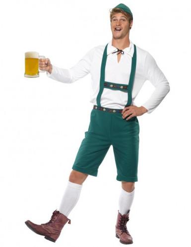 Déguisement bavarois vert homme