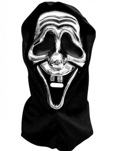 M�scara plateada de asesino en serie ideal para Halloween