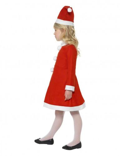 Déguisement Mère Noël robe pompons fille-1