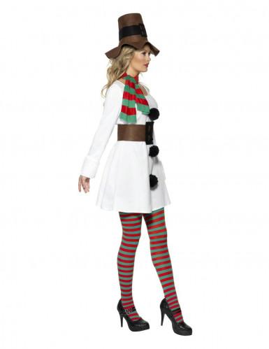 Déguisement bonhomme de neige femme Noël-1