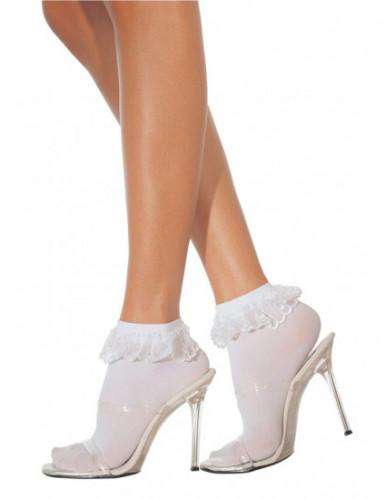 Socquettes blanches avec dentelle femme