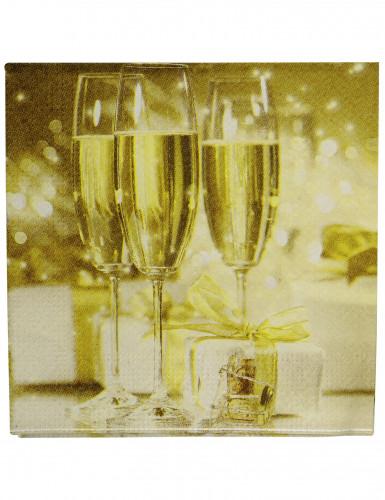 Serviettes coupes de champagne