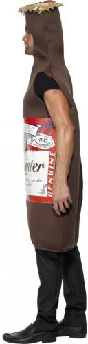 Déguisement bouteille de bière marron adulte-1