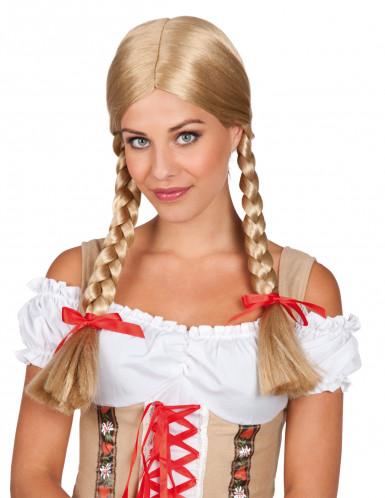 Perruque tressée blonde femme