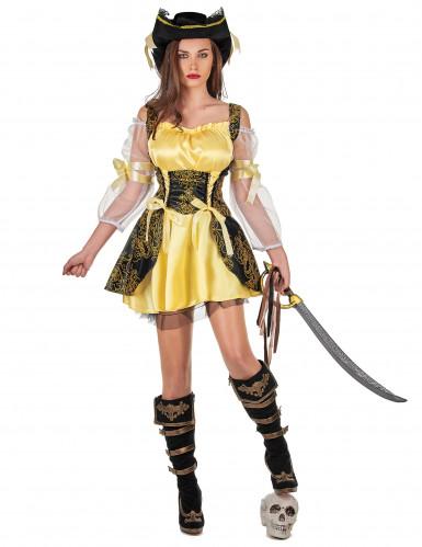 Déguisement pirate jaune femme
