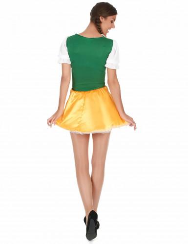 Déguisement bavaroise jaune et verte femme-1