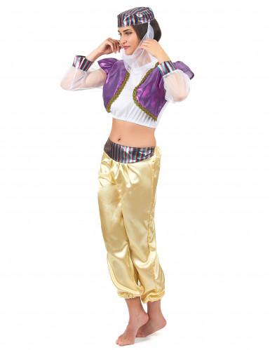 Déguisement danseuse orientale coloré femme-1