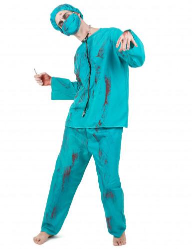Déguisement chirurgien zombie Halloween adulte
