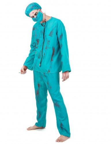 Déguisement chirurgien zombie Halloween adulte-1