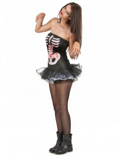 Déguisement squelette sexy adulte Halloween pour femme-1