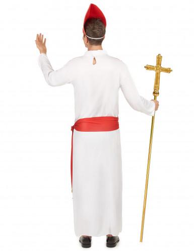 Déguisement cardinal rouge et blanc homme-2