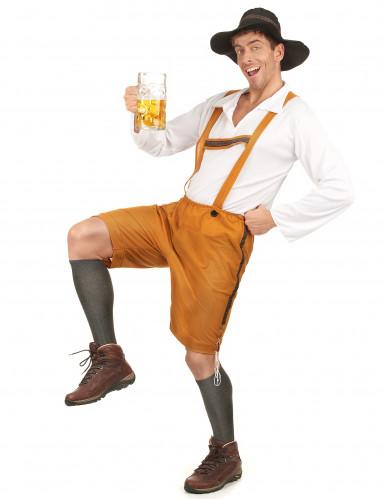 Déguisement bavarois jaune homme-1