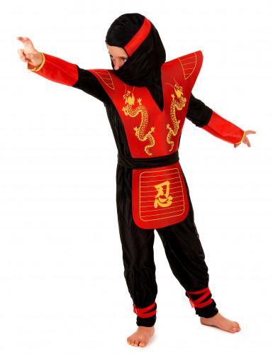 Déguisement ninja motifs dragons garçon-1