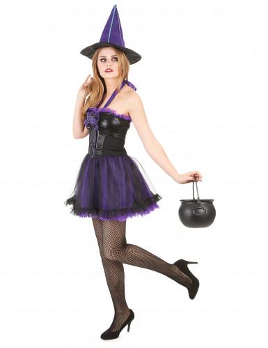 Déguisement sorcière violette femme halloween-1