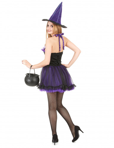 Déguisement sorcière violette femme halloween-2