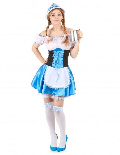 Déguisement bavaroise bleue femme