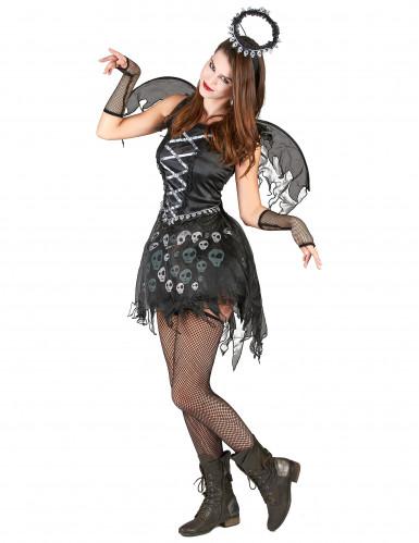 Déguisement ange gothique femme-1