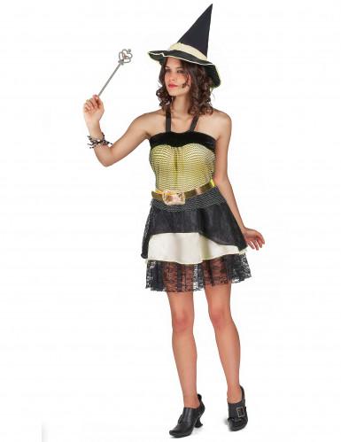 Déguisement sorcière femme Halloween or-1