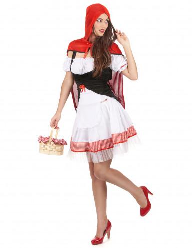 Déguisement chaperon rouge élégant femme-1