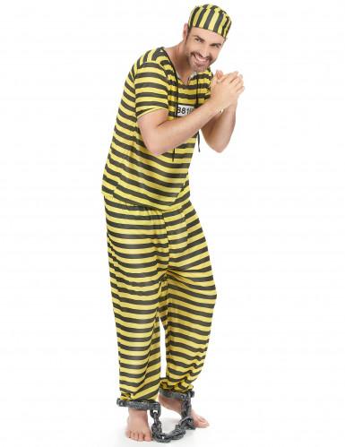 Déguisement prisonnierhomme jaune