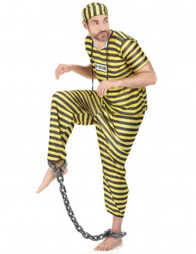 Déguisement prisonnier  homme jaune-1