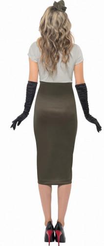 Déguisement militaire robe moulante femme-1