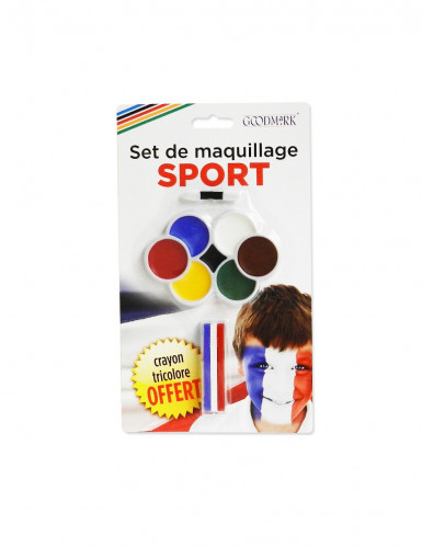 Maquillage supporter 7 couleurs et crayon 3 en 1 avec pinceau