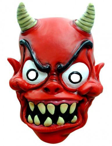Masque rouge démon adulte Halloween