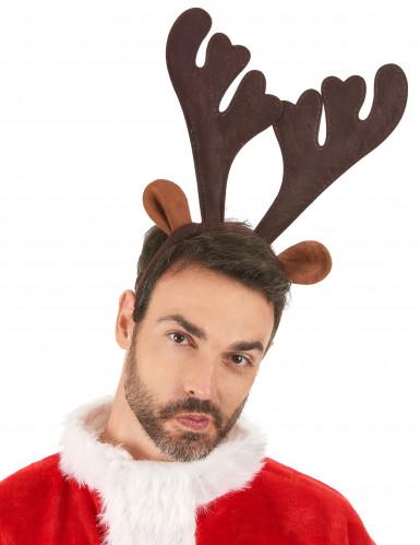 Serre-tête renne réaliste Noël-1